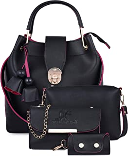 Speed X Fashion Women Sling Bag & Handbag With Combo Pink (Set of 4)