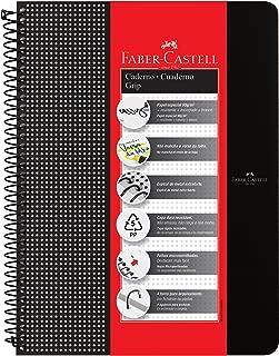 Caderno Grip Pautado Preto, Faber-Castell, CDNOFF/PR, Mista, 80 Folhas