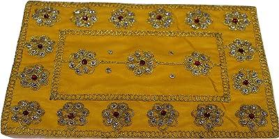 PUJA Cloth ASSAN for Deity 9 7 NS PUJA Altar Cloth,PUJA ASSAN   Devi MATA    Velvet MAT    Cover MAT    PUJA Cloth    Size 0 NO