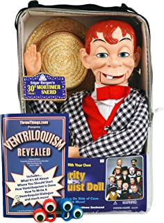 ThrowThings.com Bonus Bundle! Mortimer Snerd Ventriloquist Dummy Doll PLUS Ventriloquism Revealed Booklet PLUS Two Finger gEyes