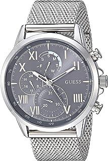 ساعة بعرض انالوج وسوار ستانلس ستيل للرجال من جيس، لون فضي، 21.7 (موديل: U1310G1)