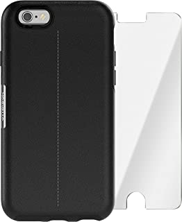 OtterBox Strada Series Limited Edition + Alpha Glass Case for iPhone 6/6s (ONLY) - Retail Packaging - Onyx (Black/Black Leather)