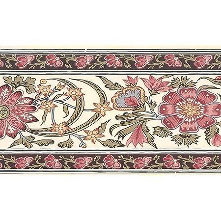 Dundee Deco MGAZB6001C Frise de Papier Peint mur Motif treillis Noir 10 m x 10 cm Frise Murale Bordure de papier peint autoadh/ésif autocollant pour fen/être