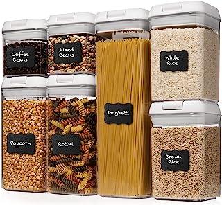 Shazo Airtight Container Set for Food Storage – 7 Piece Set + Heavy Duty Plastic..