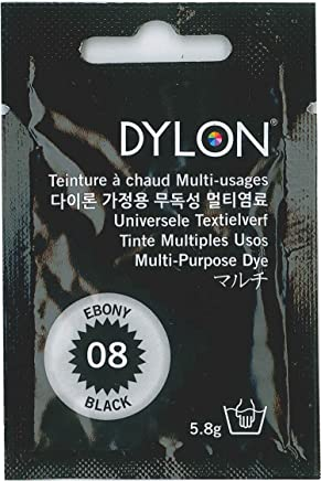 DYLON マルチ (衣類?繊維用染料) 5.8g col.08 エボニーブラック [日本正規品]