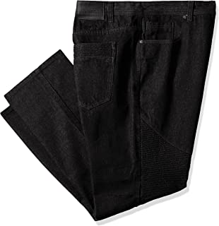 Southpole Men's Big and Tall Twill Pants Long in Thick Bull Twill Fabric and Moto Biker Details on Knees