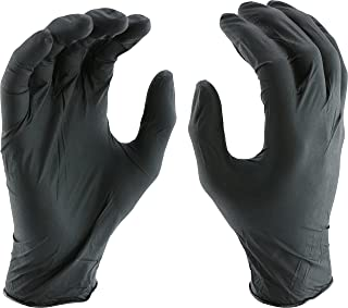 West Chester 2920 Industrial Grade Nitrile Disposable Gloves, 5 mil, Powder Free: Black, Small, Box of 100