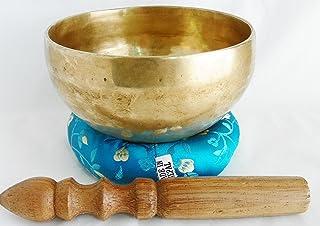 F10 5 Energetic Throat 'G' Chakra Healing Tibetan Singing Bowl Made in Nepal