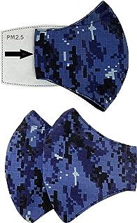2 Cubre bocas de algodón tricapa. Soporte nasal. Espacio para filtro (filtro no incluido). Con Elástico Plano de 80 cm par...