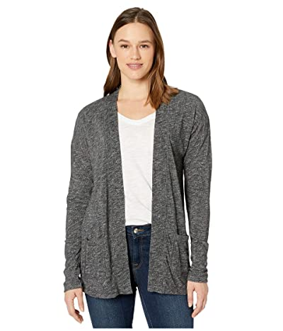 tentree Alouette Long Sleeve Cardigan (Meteorite Black Marled) Women