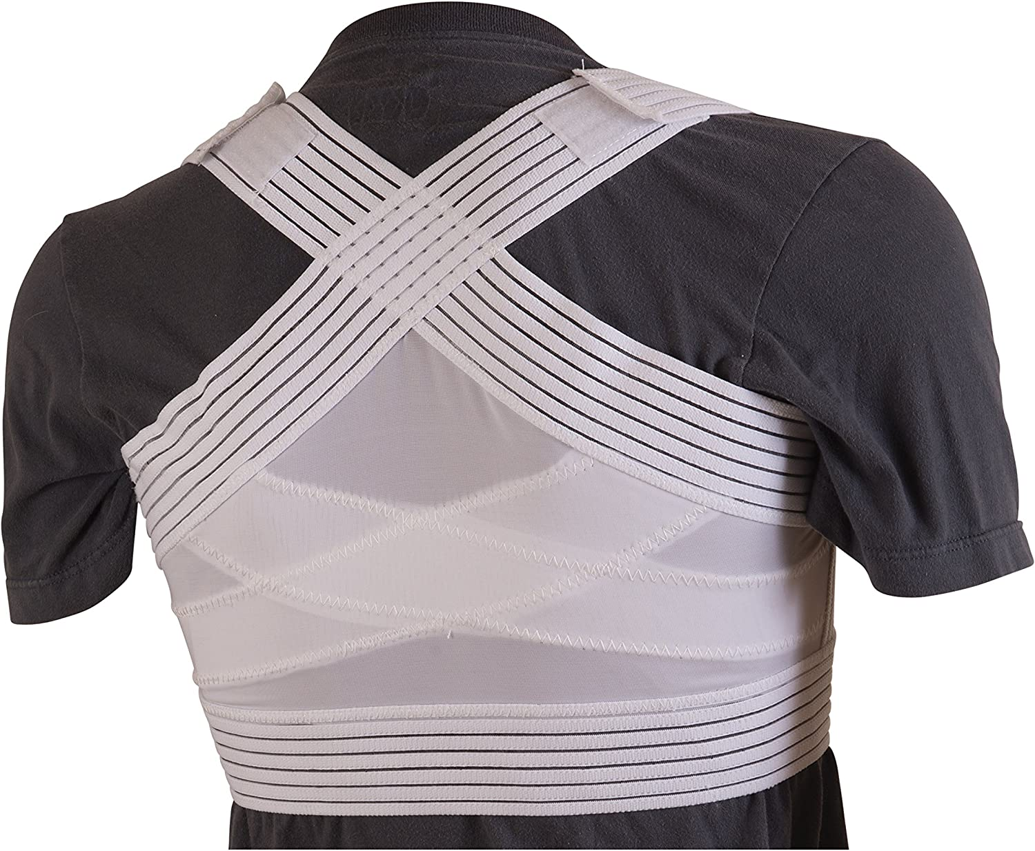 DMI Posture Corrector famous Unisex White Criss-Cross Ex Bands Foam Year-end annual account