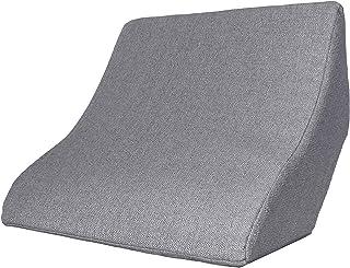 Cojín de lectura y soporte lumbar para una posición óptima al sentarse. Cojín cuña, cojín de espalda para leer, ver la televisión, jugar y relajarse, para cama, sofá y sofá (gris, 52 x 50 x 21 cm)