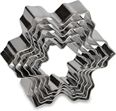 Patisse 5 piece snowflake cookie cutter stainless steel assorted metal