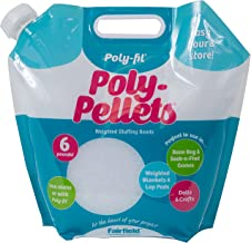 Fairfield Fil Poly Pellets Weighted Stuffing Beads, 6 Pound Pour and Store Bag, White, 6 Lbs