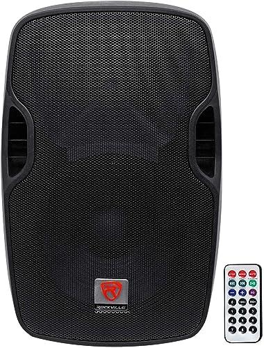 "Rockville BPA12 12"" Professional Powered Active 600w DJ PA Speaker w Bluetooth"