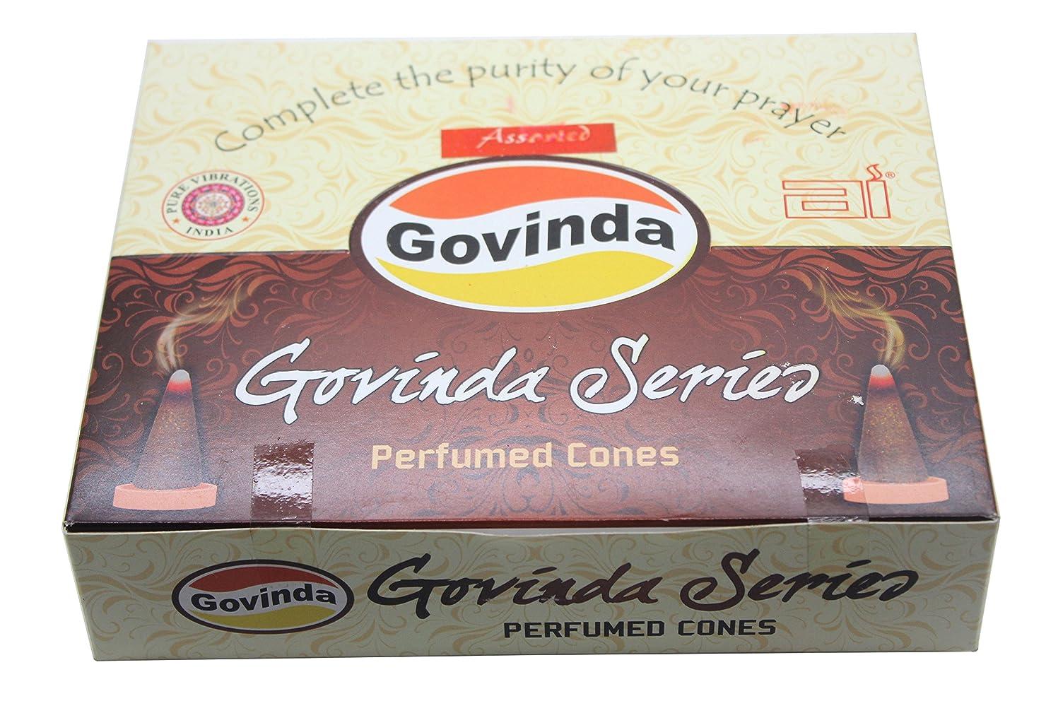 作成する中境界Govinda Incense Cones?–?Assorted?–?12パックの10?Conse各?–?6つの異なる香り