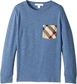 Burberry Kids - YNG Long Sleeve T-Shirt (Little Kids/Big Kids)