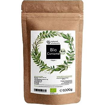 Bio Curcuma Pulver 1Kg - Laborgeprüft. Ohne Zusätze. Zertifiziert Bio. Vegan. Glutenfrei. Nachhaltig angebaut - 1000g Beutel