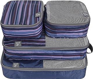 Travelon Set of 4 Soft Packing Organizers, Mix Stripe, One Size
