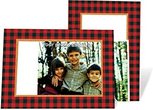 product image for Buffalo Plaid 4x6 Photo Insert Note Cards - 24 Pack by Plymouth Cards