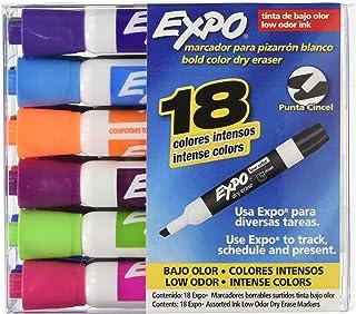 Expo 1929205 Tinta Borrable PTA Cincel CJ con 18 Colores Intensos y Brillantes