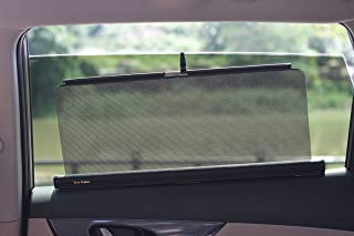 Tesla Shades--Retractable Shades Type A (Two Shades, 22 Inches Wide, Fit Rear Side Windows with Straight-lined Tops. Two-years Warranty.)
