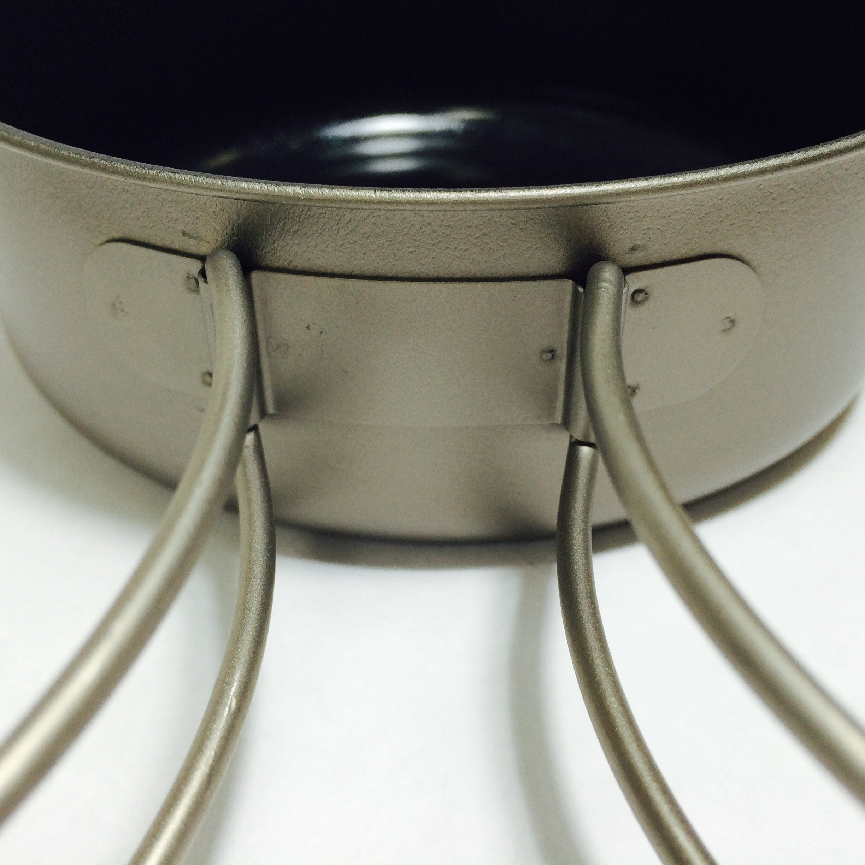 AMG Titanium Small Bowl Pot 490ml//16.5ozLightweight Outdoor Camping Cookware