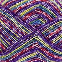 King Cole Zig Zag 4 Ply Superwash Knitting Wool & Nylon 100g Ball Sock Yarn (Passion Flower - 3169)