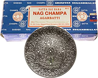 Alternative Imagination 250 Gram Nag Champa with Incense Holder (Tibetan Incense Burner)
