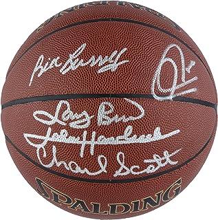 Boston Celtics Autographed Indoor/Outdoor Legends Basketball - 5 Signatures - Fanatics Authentic Certified
