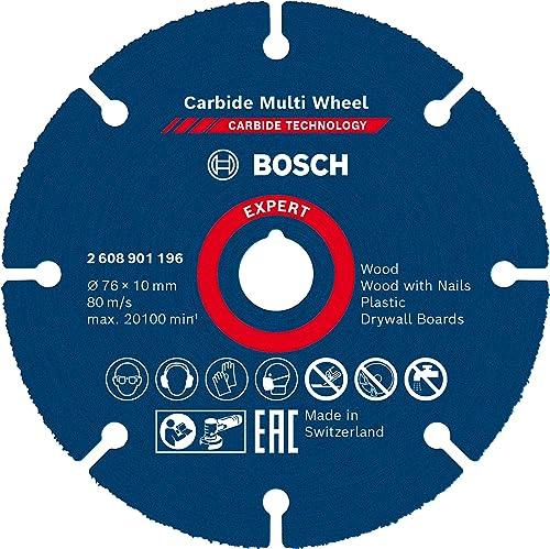 Bosch Professional 1x Disque à tronçonner Expert Carbide Multi Wheel (pour Bois dur, Ø 76 mm, Accessoire Mini meuleus...