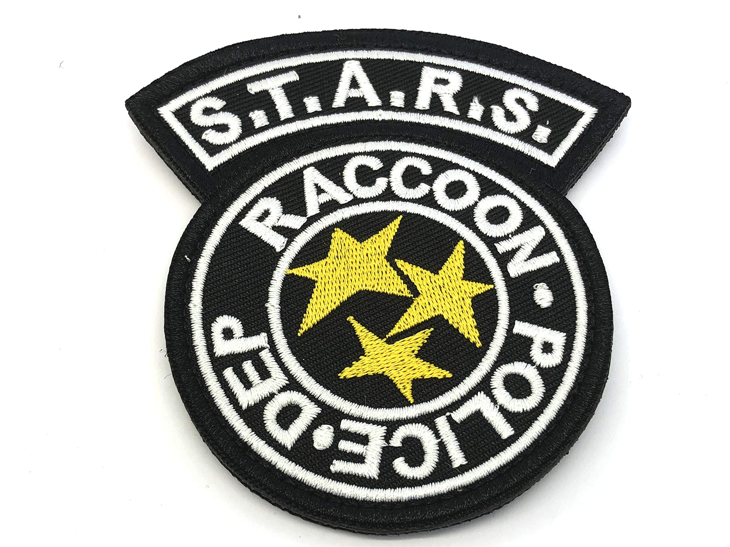 Parche Bordado de Star Racoon Police Dept Resident Evil para Airsoft, Paintball, Cosplay, Color Negro, tamaño 90mm x 90mm: Amazon.es: Deportes y aire libre