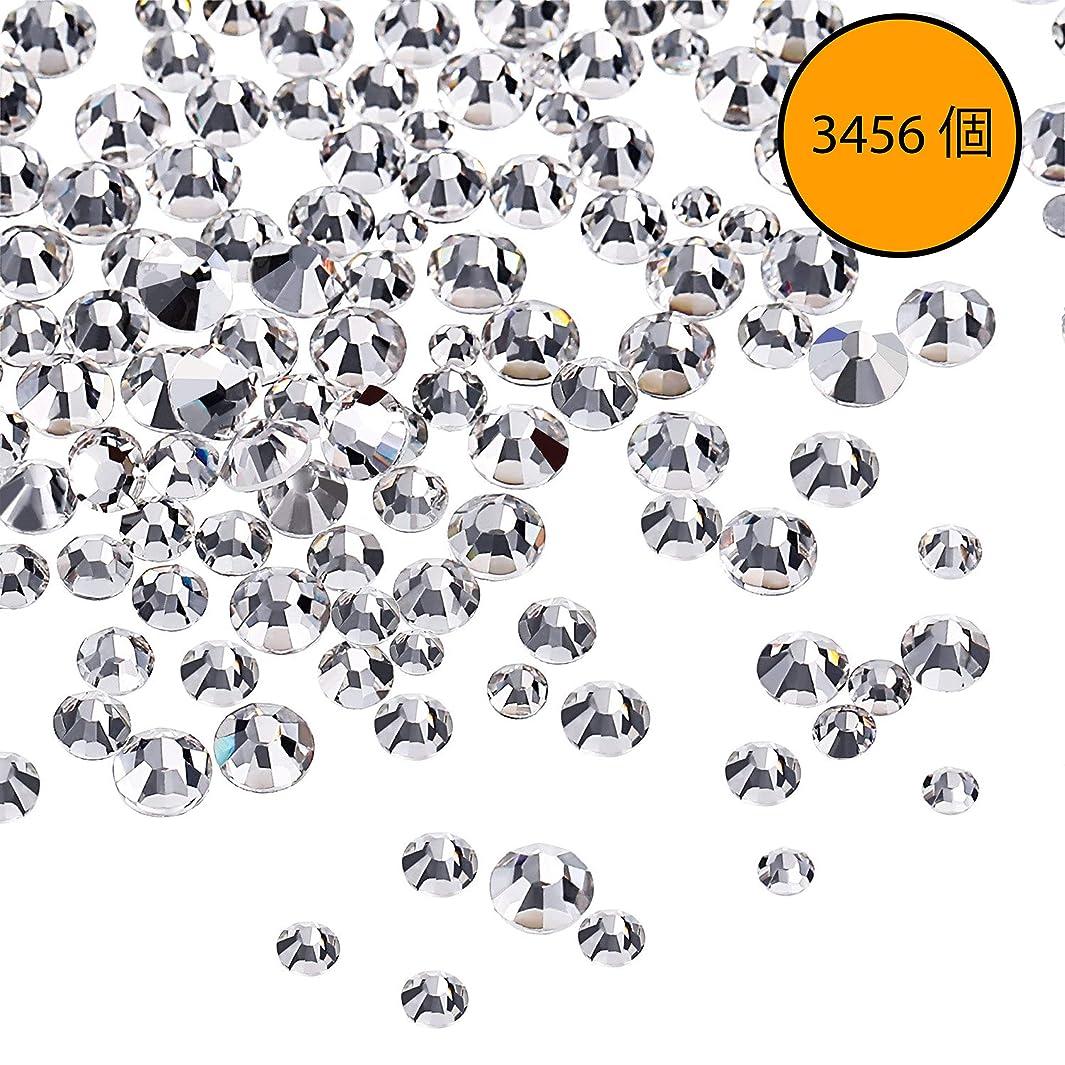 アンティーク引き渡すカテゴリーMojoe 3456 個ネイルクリスタルクリアネイルアートラインストーンラウンドバックガラスチャーム宝石石、6サイズネイル用装飾化粧服靴(、混合Ss4 5 6 8 10 12)(クリスタルクリア)