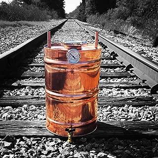 Stampede Stills 15 Gallon Copper Moonshine Still Thumper Keg (Doubler) with 3