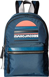 Marc Jacobs Women's Trek Pack Exaggerated Sport Logo Medium Backpack Teal One Size