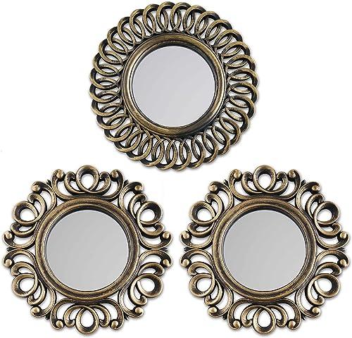 BONNYCO Espejos Pared Decorativos Pack 3 Espejos Decorativos Ideales para Decoracion Casa, Habitación y Salón | Espej...