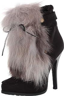 """حذاء حريمي مطبوع عليه عبارة """"Hurry UP""""، أسود، مقاس 7 M US"""