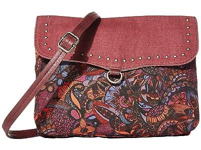 Sakroots Austen Double Gusset Crossbody (Cabernet Spirit Desert) Cross Body Handbags