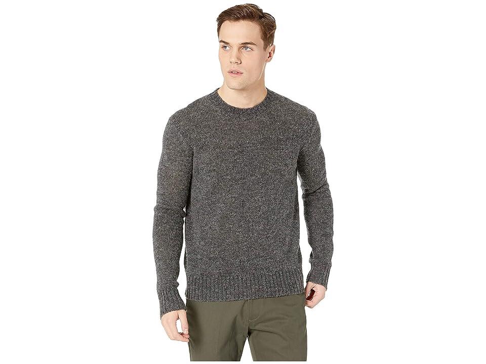 Frye Aiden Crew Neck Sweater (Charcoal) Men