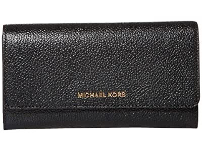 MICHAEL Michael Kors Jet Set Large Trifold Wallet (Black) Bi-fold Wallet