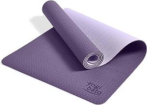 Yogibato Yoga Mat TPE - anti-slip gymnastiekmat Sport Mat - mat met draagriem voor gymnastiek Pilates Sport & Fitness - No...
