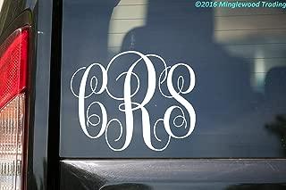 4 inch monogram decal