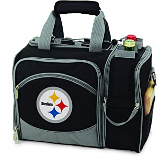 NFL Pittsburgh Steelers Malibu Insulated Shoulder Pack with Deluxe Picnic Service for Two