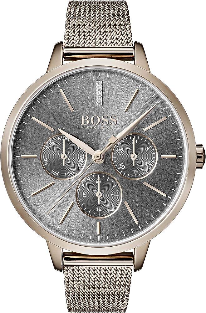 Hugo boss orologio in acciaio inossidabile multiquadrante uomo 1502424