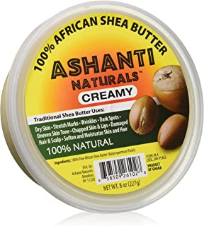 Ashanti Naturals 100% Soft and Creamy Natural African Shea Butter, White, 8 oz.