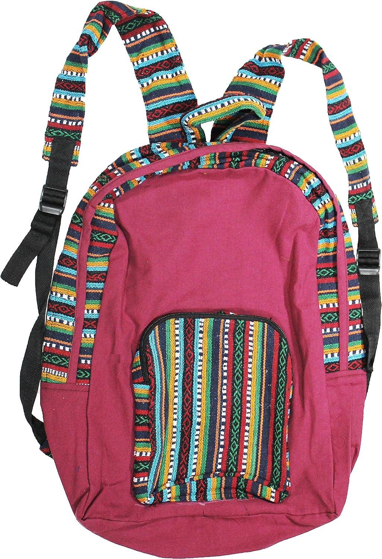 a2zgift4u Tibetian Cotton Multicolor Hippie Hobo Boho Backpack Bag Handmade Nepal