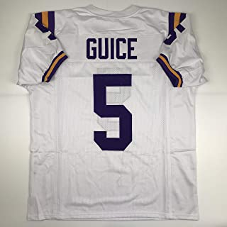 c0dba4594 Unsigned Derrius Guice LSU White Custom Stitched College Football Jersey  Size Men s XL New No Brands