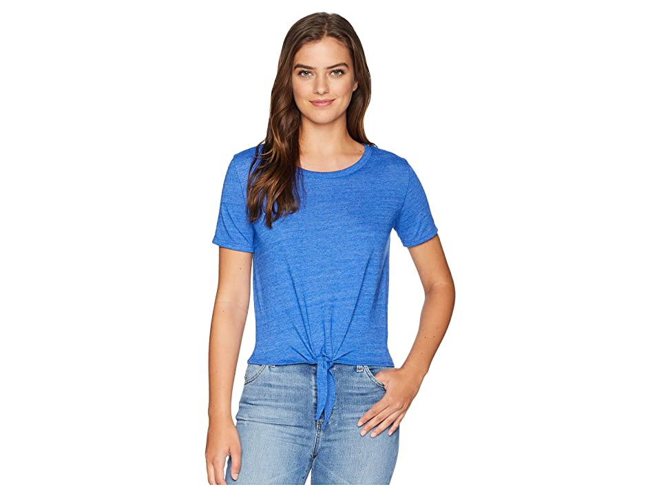 Alternative High-Waisted Tie Tee (Eco True Pacific Blue) Women