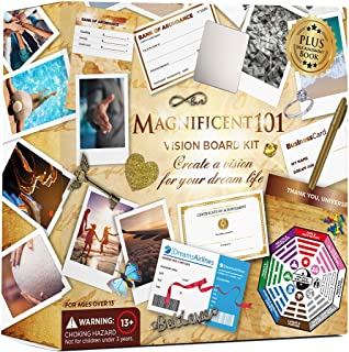 Magnificent Vision Board Kit - Create a Board of Your Ambitions - Use The Power of Intention and Visualization to Achieve ...