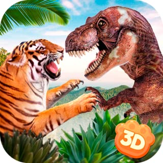Dinosaur Hunter Tiger Fighting: Kung Fu Fury Beast Battle | Enemy Strike Creature Quest Rush Fight
